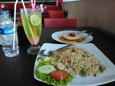 Fried rice and serabi indonesia