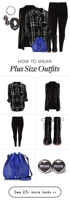 """plus size fall/winter chic in plaid"" by kristie-payne on Polyvore featuring Studio 8, Gianvito Rossi, Proenza Schouler, Aéropostale and Lipsy"
