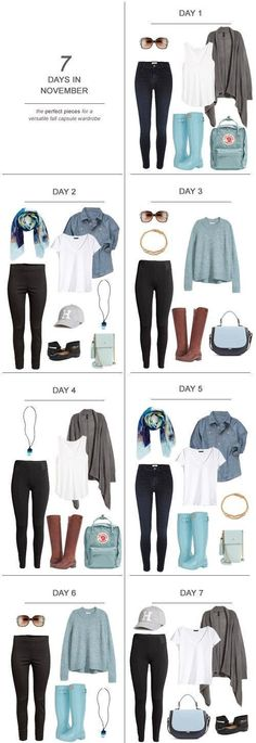 7 Days in November : The Perfect Pieces for a Versatile Fall Capsule Wardrobe Kiss My Tulle : 7 Days in November : The Perfect Pieces for a Versatile Fall Capsule Wardrobe capsulewardrobe ootd travel sahm fashion packing fall Days November Perfect Capsule Wardrobe Mom, Winter Wardrobe, Staple Wardrobe Pieces, Capsule Wardrobe Autumn 2018, Minimalist Wardrobe, Minimalist Fashion, Mom Outfits, Fashion Outfits, Womens Fashion