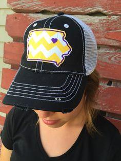UNI University of Northern Iowa Chevron Bling Trucker Hat