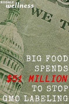 "The budgets for GMO lobbying are absolutely ""mind-boggling."" 