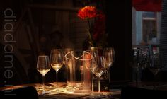 Arsenaal van glazen, stil leven