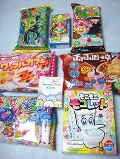 $30.00   FREE AIR SHIPPING!  DIY Snacks SET of 7 ~Mokolette Majomajo  Gumi land JAPAN    *There are other sets too^-^