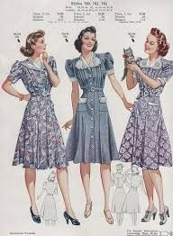 Image result for 1940s fashion