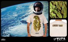 http://www.facebook.com/UtopiaLux Unusual tshirt design. #smoke #tshirt #jump #felix #blow #design #lookbook #sick #funny #utopia #marihuana #joint #pot #earth