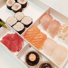 """The 30 Most Instagrammed Restaurants In L.A. #refinery29  http://www.refinery29.com/most-instagrammed-restaurants-los-angeles#slide26  Sugarfish """"Trust Me,"""" this is an easy win. Sugarfish, click here for locations"""