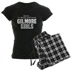 Shhh... Im Binge Watching Gilmore Girls Pajamas on CafePress.com