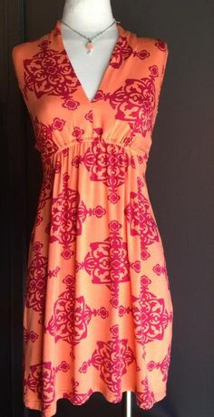 Orange & Raspberry Dress