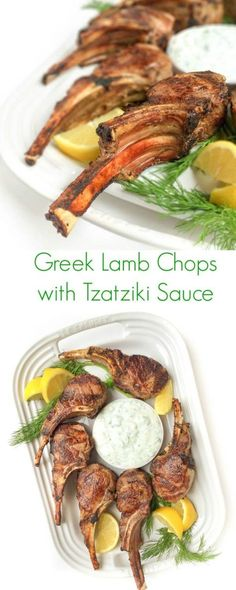 Greek Lamb Chops with Tzatziki Sauce - The Lemon Bowl