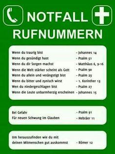 -#Notfall- #Rufnummern - #Bibel