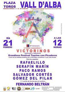 torodigital: Festival el próximo domingo en Vall D'Alba