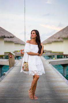 Vestido blanco ibicenco zara website
