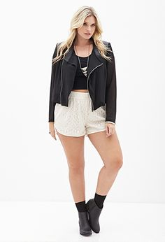 Beaded Lace Dolphin Shorts | FOREVER 21 - 2000122422