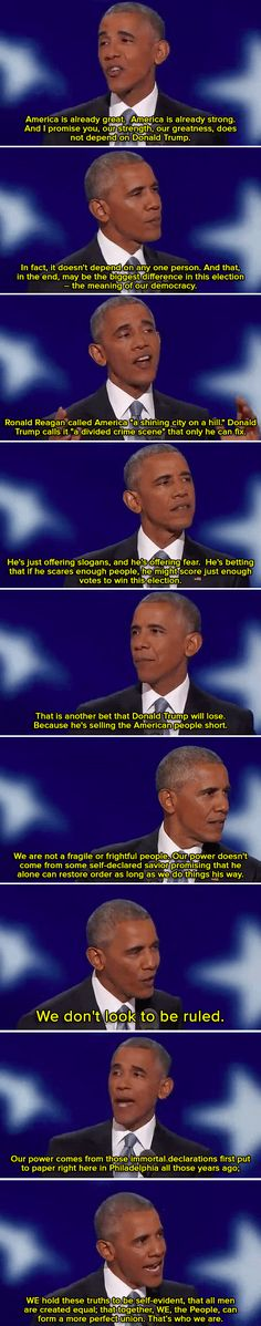 President Obama's DNC speech was one for the history books