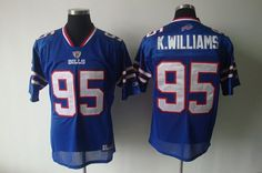 Bills #95 K.Williams Light Blue 2011 New Style Stitched NFL Jersey