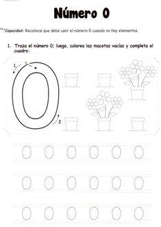 El número 0: 5 años - Material de Aprendizaje Numbers Preschool, Preschool Worksheets, Preschool Activities, Learning Centers, Kids Learning, Daily Schedule Printable, Learn Greek, Bilingual Education, Writing Numbers