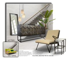 """Playing Around With Decor"" by kat1973 ❤ liked on Polyvore featuring interior, interiors, interior design, home, home decor, interior decorating, Crate and Barrel, John-Richard, CFC and Justice Design Group"