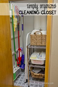 """See our website for additional information on """"laundry room storage diy budget"""". It is actually a superb area for more information. Laundry Room Organization, Closet Organization, Organization Ideas, Cleaning Cupboard Organisation, Closet Storage, Dollar Store Hacks, Dollar Stores, Ideas Armario, Utility Closet"""