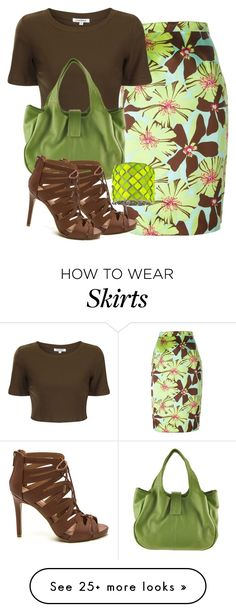 """Vintage Floral Pencil Skirt"" by ljbminime on Polyvore featuring Prada, Glamorous, John Cole Collections, Blu Bijoux and vintage"