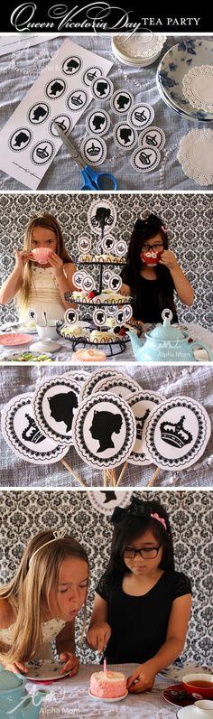 Queen Victoria Day Princess Tea Party by Brenda Ponnay for Alphamom.com