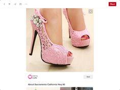 Pink lace shoe idea