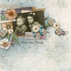 My mum when she was little with her brother David.  Credits: Tenderhearted Bundle, Designs by Laura Burger https://www.pickleberrypop.com/shop/product.php?productid=30991&cat=0&page=1 Fuss Free hip to be square 2, Fiddle Dee Dee Designs: http://scraporchard.com/market/Fuss-Free-Hip-To-Be-Square-2-Digital-Scrapbook.html
