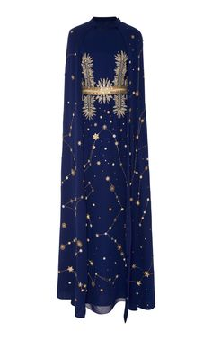 Cucculelli Shaheen M'o Exclusive Midnight Constellation Cape Caftan In Navy Pretty Outfits, Cool Outfits, Fashion Outfits, Fasion, Fashion Brands, High Fashion, Punk Fashion, Lolita Fashion, Space Fashion