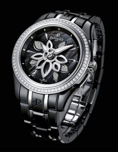 e2c0c52a282 This is a sneak peak at the new Perrelet Diamond Flower ceramic watch.  Relógios Legais