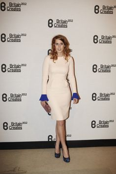 HRH Princess Beatrice of York wearing Roksanda Ilincic at the Britain Creates Gala