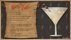 For Harry Potter's birthday, cast a banishing charm on butterbeer in favor of something a little more grownup. Harry Potter Cocktails, Harry Potter Food, Harry Potter Wedding, Harry Potter Theme, Harry Potter Birthday, Disney Cocktails, Triple Sec, Harry Potter Marathon, Drink Recipes