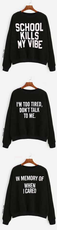 91dea53e School kills my vibe Funny Shirts, Cool Shirts, My Vibe, Fashion Outfits,