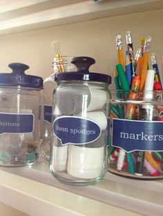 How to turn glass jars into DIY pharmacy jars with labels -Two It Yourself