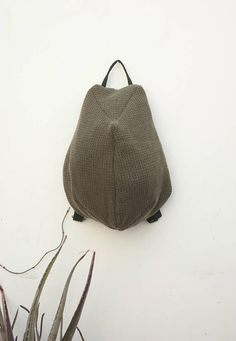 Minimalist Backpack Minimal Rucksack Zipper Backpack Wool