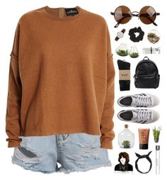 """""""i dream in technicolour, but i live in black and white"""" by karm-a ❤ liked on Polyvore featuring Mode, Designers Remix, HUF, adidas Originals, Dsquared2, Dot & Bo, Chive, Topshop, NARS Cosmetics und Daniel Wellington"""