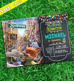 Zootopia Invitation - Zootopia - Zootopia Party - Zootopia Birthday - Zootopia Printables  Thank you for stopping by :)  This listing is for the