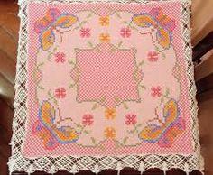 Resultado de imagem para verso do tecido xadrez bordado
