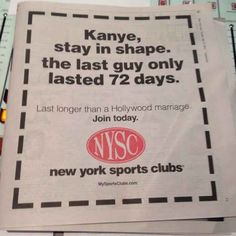 New York Sports Clubs Debuts Wonderful Kimye Wedding-Inspired Ad