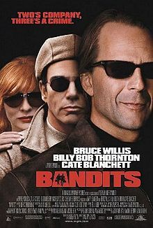 Bandits is a 2001 American crime-comedy drama film directed by Barry Levinson. It stars Bruce Willis, Billy Bob Thornton, and Cate Blanchett. It helped Thornton earn a National Board of Review Best Actor Award for 2001. Each were nominated for Best Actor/Best Supporting Actress Golden Globe Awards in this film, Two friends and convicts, one satanic, the other neurotic and hypochondriac, break out of Oregon State Penitentiary in a concrete mixing truck and start...