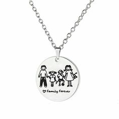 Family Forever Stainless Steel Necklace Husband Wife Child Son Daughter Mom Dad #Unbranded #Medallion Dad Daughter, Husband Wife, Love Dad, Mom And Dad, Fathers Day Gifts, Gifts For Mom, Stainless Steel Necklace, Birthday Gifts For Girls, Cat Jewelry