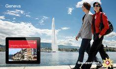 MySwitzerland iPad App Ipad App, Creative Advertising, City Break, Desktop Screenshot, Ads Creative