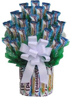 Almond Joy Lover Candy Bouquet - the idea is to use someones favorite something n do it up..