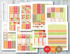 Free Monthly Printable Planner Stickers Set - Beautiful Butterfly - Erin Condren