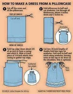 How to make a dress from a pillow case