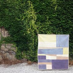 "Artist Heidi Parkes with her quilt, ""The Beach."" #handquiltef"