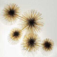 I really can't get enough of these brass sea urchin sculptures by C. Jeré Urchin Sculpture | Jonathan Adler  #midcentury #bronze #wallart