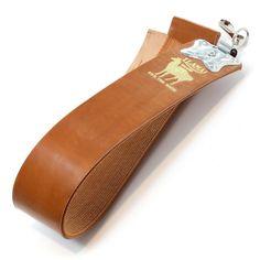 Kanayama Llama #6300 Hanging Razor Strop — Fendrihan Canada Razor Strop, Straight Razor, Natural Leather, Clamp, Horse, Metal, Japan, Surface, Warm