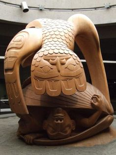 Haida carving...bill Reid in Vancouver airport