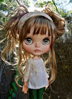 Blythe ~MILANA~OOAK by iCukla. Red Hair Little Girl, Little Doll, Ooak Dolls, Blythe Dolls, Girl Dolls, Pretty Dolls, Beautiful Dolls, Princesa Disney, Real Doll