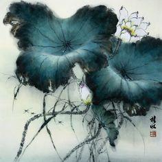 Zhang DaQian张大千荷花图