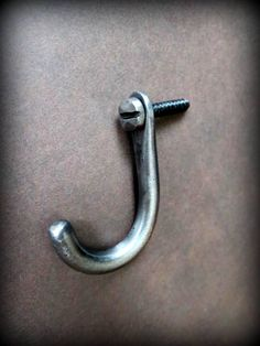 SMALL FORGED HOOK , Perfect to Hang my Hand Forged Bottle Openers , Keychains , etc...